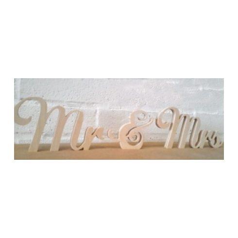 Mr és Mrs vintage felirat kölcsönzés