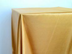 Rent gold color satin rectangular tablecloth