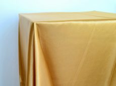 Rent gold color satin rectangular tablecloth