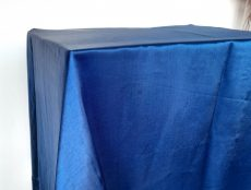 Rent business blue color satin rectangular tablecloth