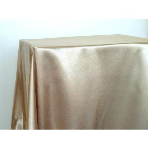 Pezsgő színű szatén táblaabrosz kölcsönzés választható méretben