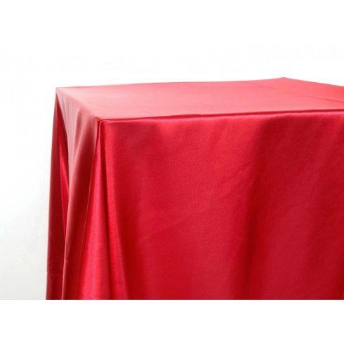 Piros szatén táblaabrosz kölcsönzés választható méretben