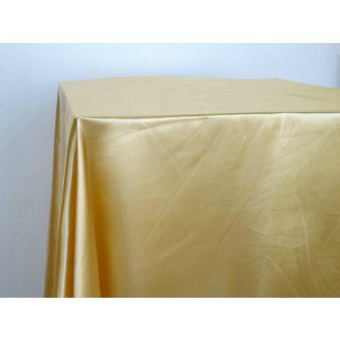 Sárga szatén táblaabrosz kölcsönzés választható méretben