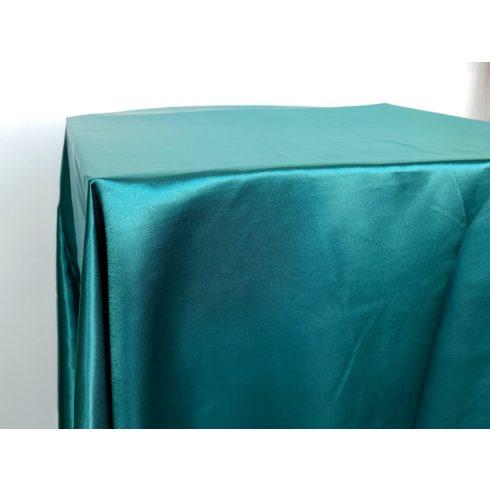 Smaragdzöld szatén táblaabrosz kölcsönzés választható méretben