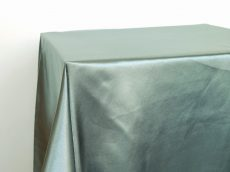 Rent grayed jade color satin rectangular tablecloth
