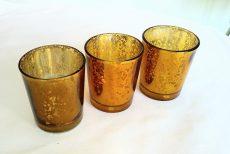 Arany színű mercury üveg mécsestartó kölcsönzés