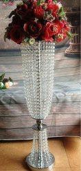 Asztali csillár kölcsönzés kristály girlandokkal 83cm