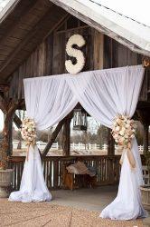 Bejárat chiffon drapéria bérlés fehér színben