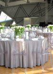 Solid matte tablecloth rental