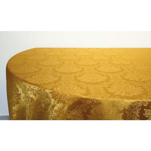 Arany színű jacquard mintás damaszt körabrosz kölcsönzés luxus minőségben-ultimate damask collection
