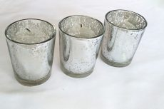Ezüst színű mercury üveg mécsestartó kölcsönzés