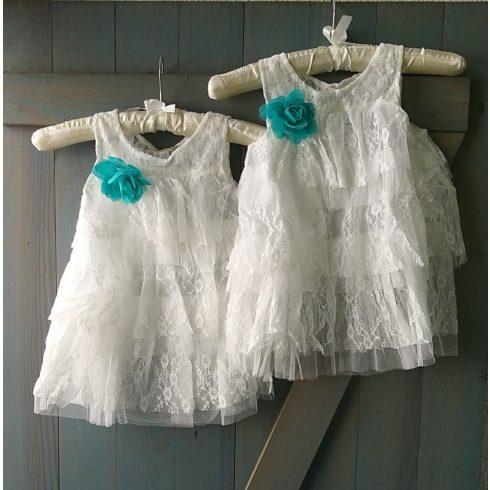 Hófehér csipke alkalmi kislány ruha