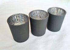 Fekete színű mercury üveg mécsestartó kölcsönzés