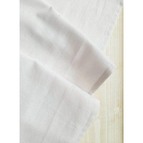 Fehér színű lenvászon asztali futó kölcsönzése