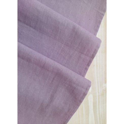Levendulalila színű lenvászon asztali futó kölcsönzése