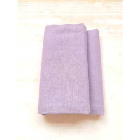Halvány levendula lila színű lenvászon szalvéta kölcsönzése