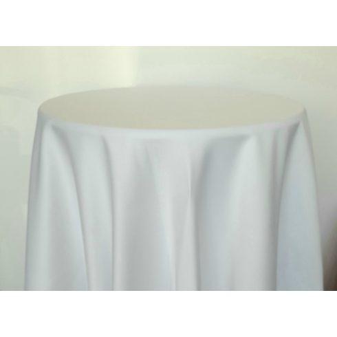Fehér színű matt körabrosz kölcsönzése 325cm-es átmérővel