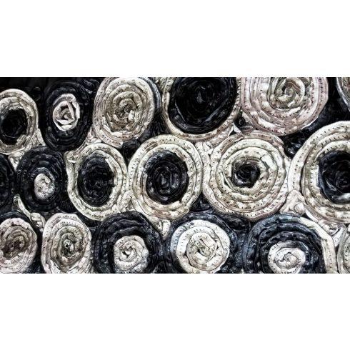 Fekete matt táblaabrosz bérlése rózsamotívumos kasírozással
