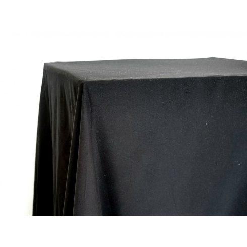 Matt felületű fekete színű táblaabrosz kölcsönzés választható méretben