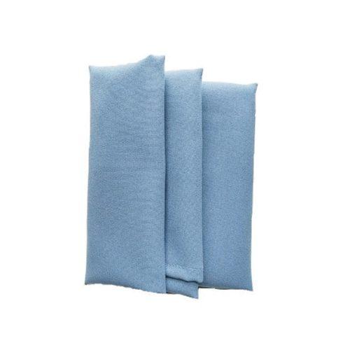 Francia kék színű matt műszálas textil szalvéta kölcsönzés