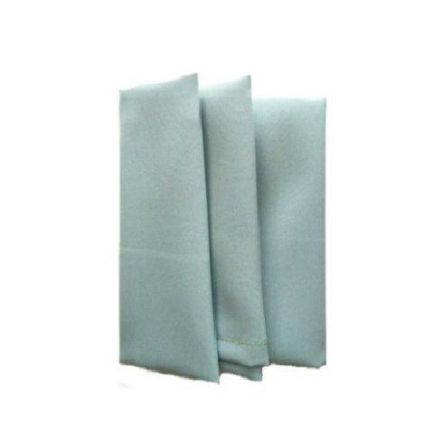 Jade szürkészöld színű matt műszálas textil szalvéta kölcsönzés