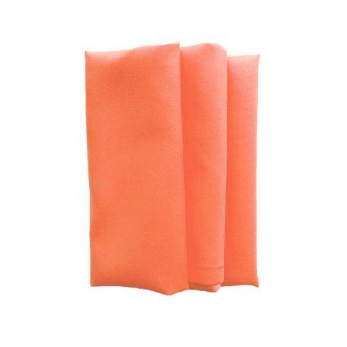 Korall narancs színű matt műszálas textil szalvéta kölcsönzés
