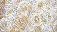 Krém matt táblaabrosz bérlése rózsamotívumos kasírozással