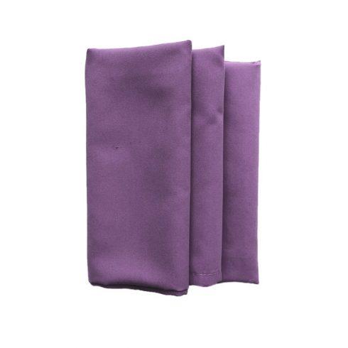 Lila színű matt műszálas textil szalvéta kölcsönzés
