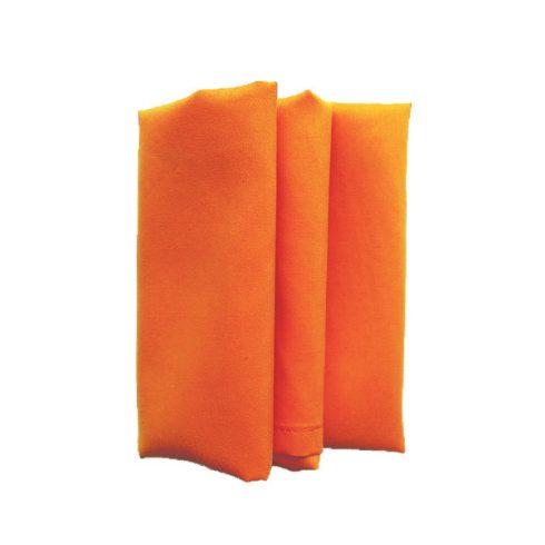Narancssárga színű matt műszálas textil szalvéta kölcsönzés