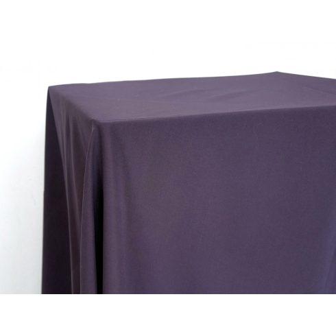Matt felületű padlizsán lila színű táblaabrosz kölcsönzés választható méretben