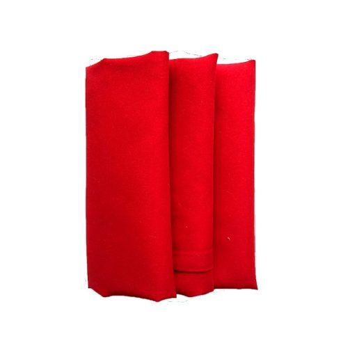 Piros színű matt műszálas textil szalvéta kölcsönzés