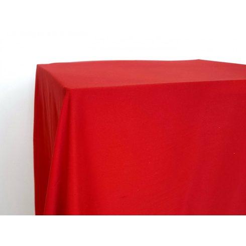Matt felületű piros színű táblaabrosz kölcsönzés választható méretben