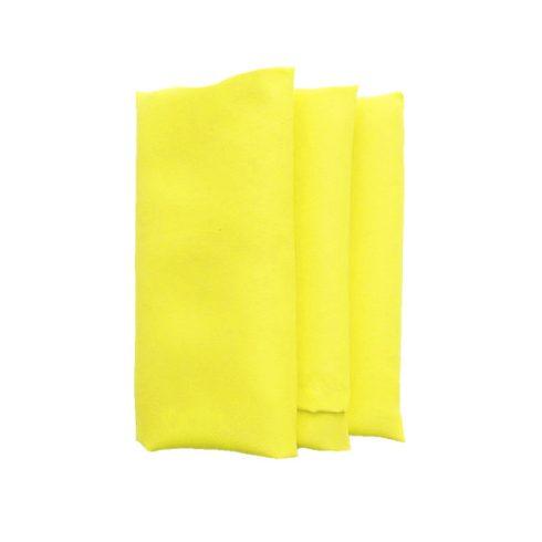 Sárga színű matt műszálas textil szalvéta kölcsönzés