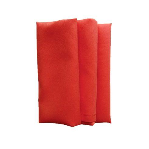 Terrakotta színű matt műszálas textil szalvéta kölcsönzés