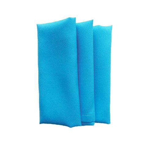 Türkiz színű matt műszálas textil szalvéta kölcsönzés