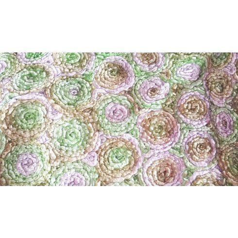 Zöld színű matt táblaabrosz bérlése rózsamotívumos kasírozással