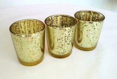 Pezsgő arany színű mercury üveg mécsestartó kölcsönzés