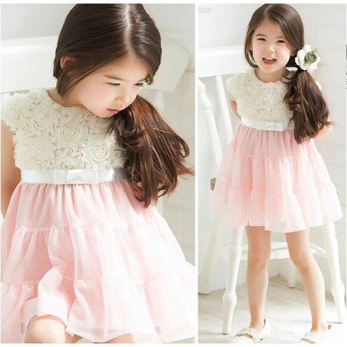 Alkalmi kislány ruha rózsaszín szoknyával