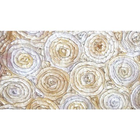 Krém szatén táblaabrosz bérlése rózsamotívumos kasírozással