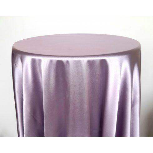 Levendula lila színű szatén körabrosz bérlése