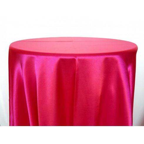 Pink rózsaszín, magenta színű szatén körabrosz bérlése