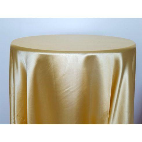 Sárga színű szatén körabrosz bérlése
