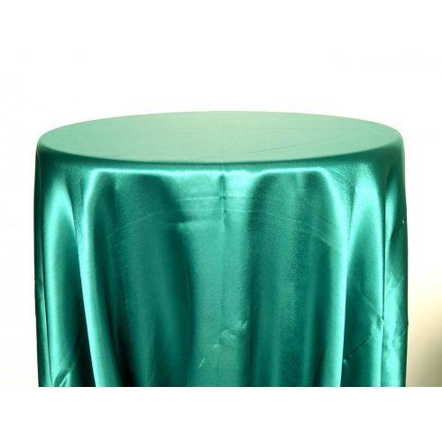 Smaragdzöld színű szatén körabrosz bérlése