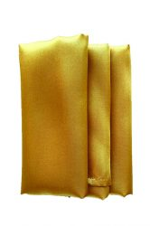 Rent gold color satin napkin