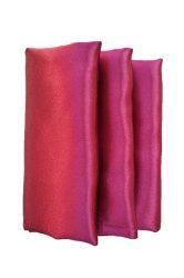 Rent burgundy color satin napkin