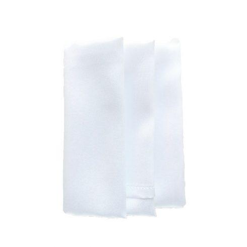 Szatén szalvéta bérlése fehér színben
