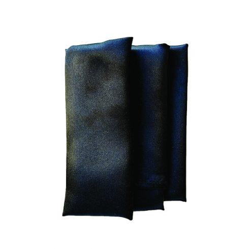 Szatén szalvéta bérlése fekete színben