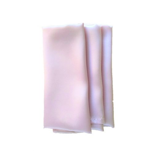 Szatén szalvéta bérlése halvány púderrózsaszín színben