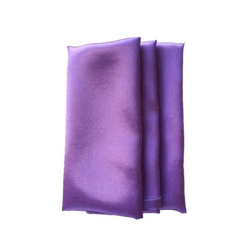 Szatén szalvéta bérlése lila színben
