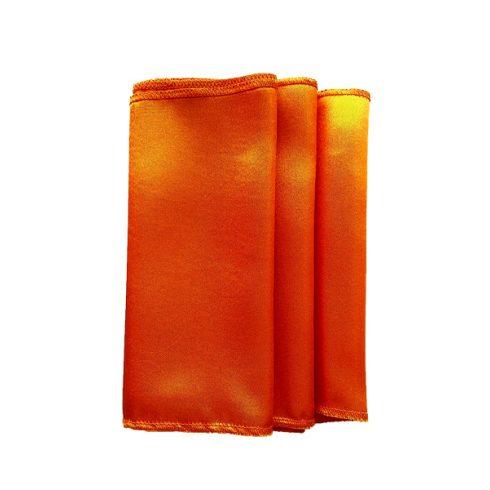 Szatén szalvéta bérlése narancssárga színben